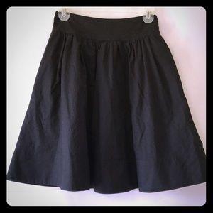 Dresses & Skirts - Ruffled Skirt, Black Cotton with Elastic Waist